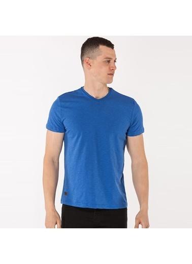 Slazenger Slazenger CARLO Erkek T-Shirt Saks  Mavi